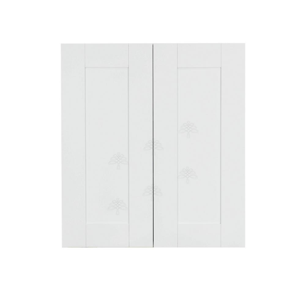 LIFEART CABINETRY Anchester Assembled 24x30x12 in. 2 Door Wall Cabinet with 2 Shelves in Classic White