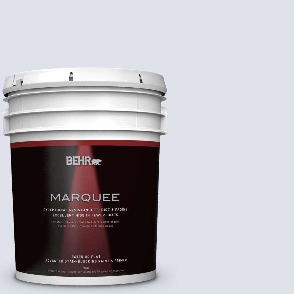BEHR MARQUEE 5-gal. #M550-1 White Lavender Flat Exterior Paint