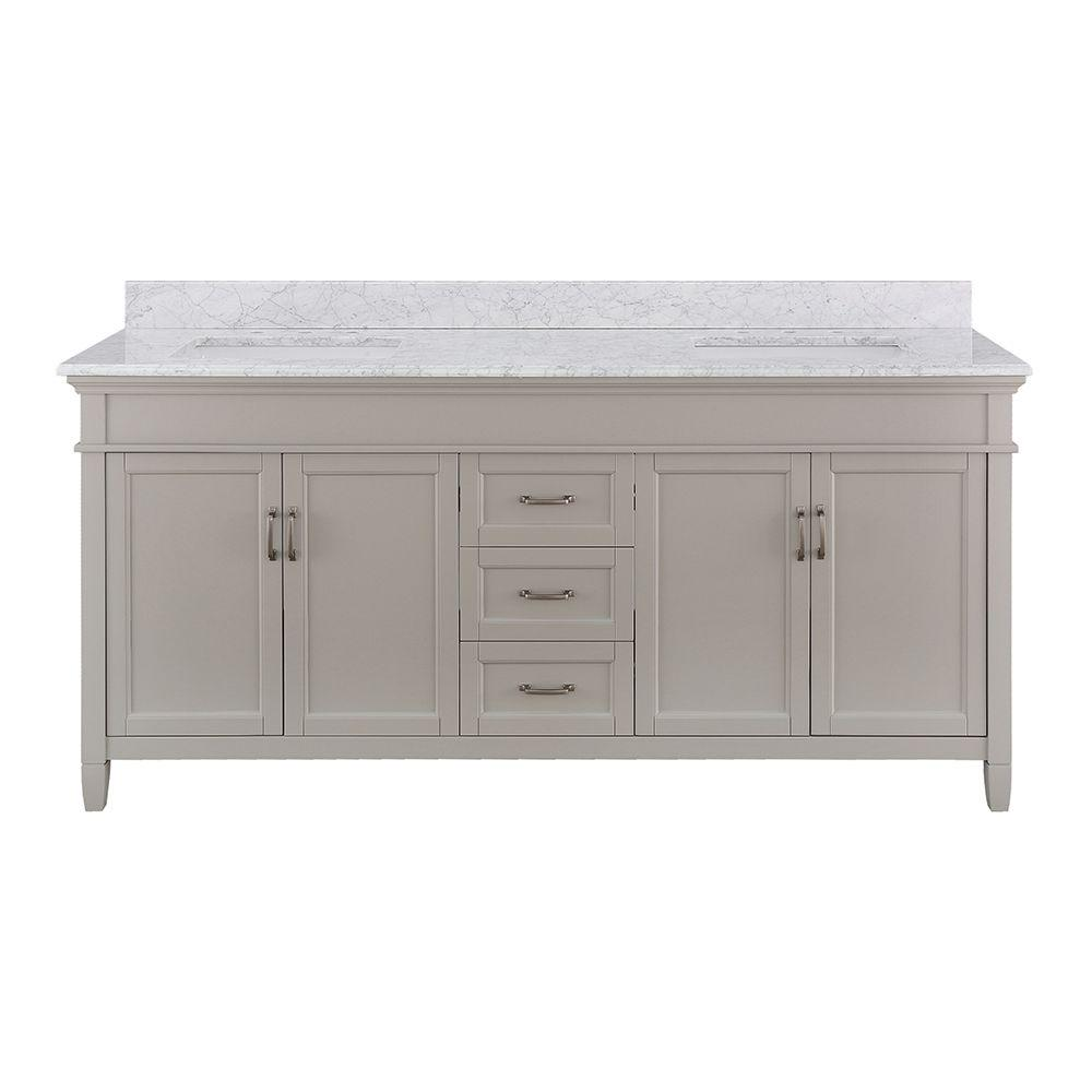 the n vanity vanities glacier cultured bay bathroom top home with w bath b tops white marble in depot