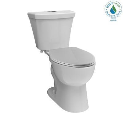 Turner 2-Piece 1.1 GPF/1.6 GPF Dual Flush Elongated Front Toilet in White