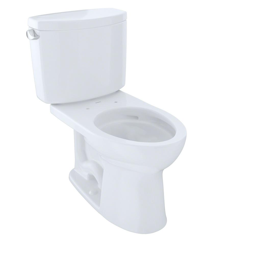 This Review Is FromDrake II 2 Piece 128 GPF Single Flush Elongated Toilet With CeFiONtect In Cotton White