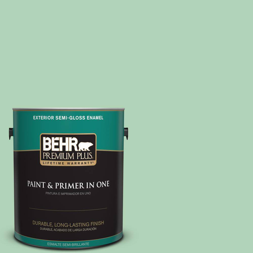 1-gal. #M410-3 Enchanted Meadow Semi-Gloss Enamel Exterior Paint
