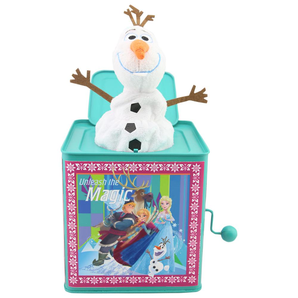 Disney 10.63 in. Jack in The Box-Olaf in Unleash Magic Box-112631 ...