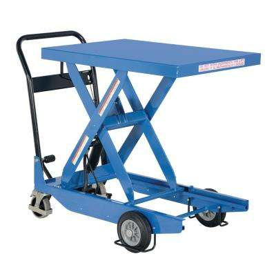 1,000 lb. 23.6 in. x 35.4 in. Premium Single Scissor Cart