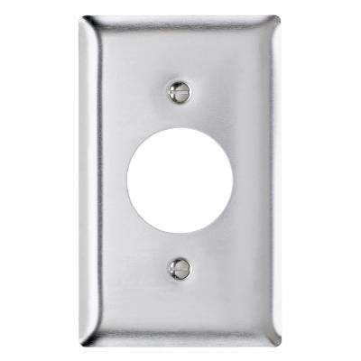 302 Series 1-Gang Single Outlet Wall Plate in Stainless Steel
