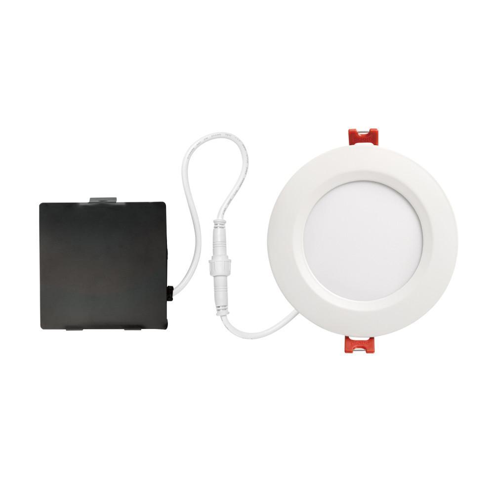globe electric ultra slim designer series 4 in white integrated ledwhite integrated led recessed kit