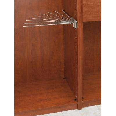 16.13 in. x 2.25 in. Satin Nickel Static Wire Fan Pants Garment Rack