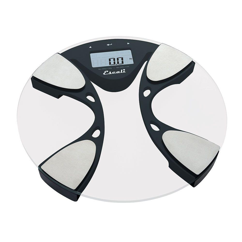 ESCALI Digital Glass Body Fat and Water Bathroom Scale, S...
