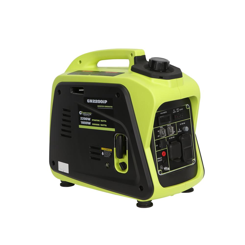 Green-Power 2200-Watt Ultra Quiet Gasoline Powered Digital Portable Inverter Generator, RV and Parallel Ready, EPA/CARB Compliant