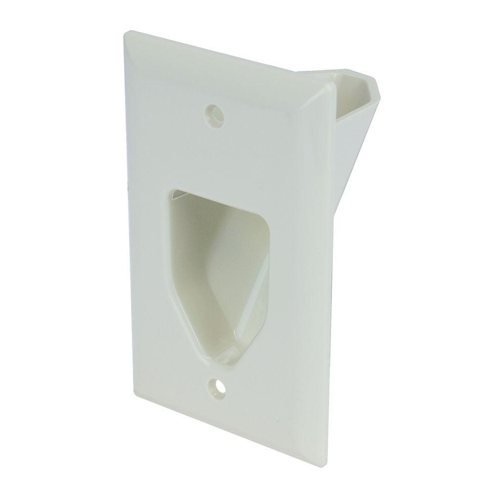 White 1-Gang 1-Decorator/Rocker/1-Duplex Wall Plate (1-Pack)