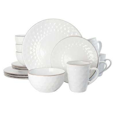 Medici Pearl 16-Piece White Dinnerware Set