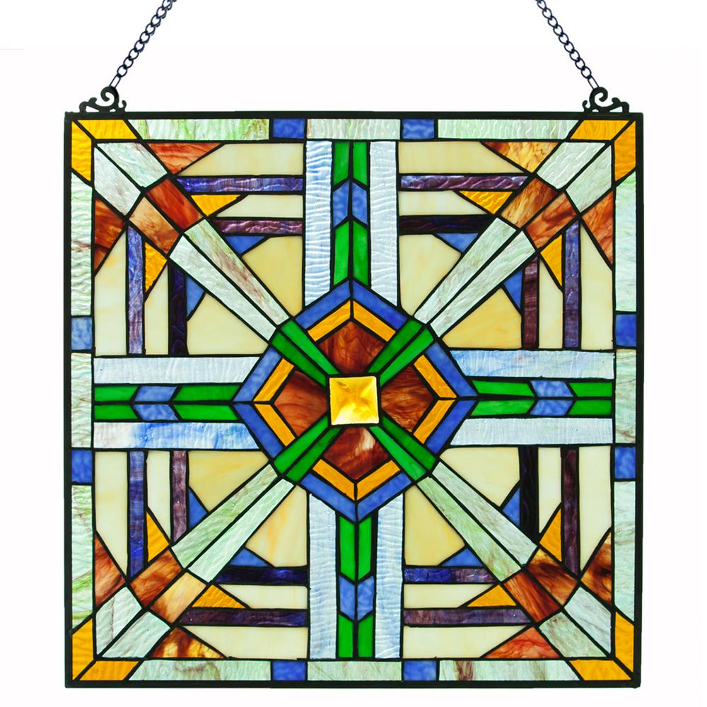 River Of Goods Multi-Colored Stained Glass Mission Style ...