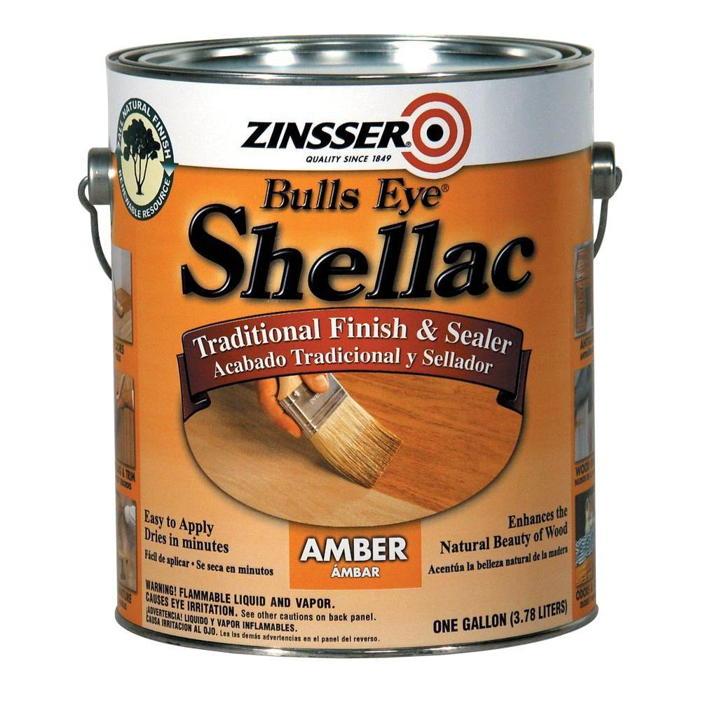 Zinsser 1 Gal. Amber Shellac Traditional Finish And Sealer