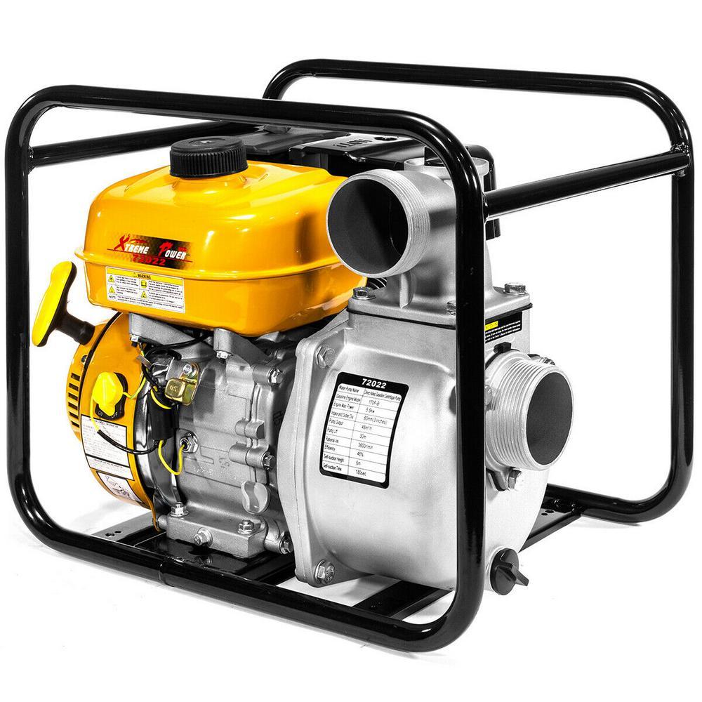 7 HP 3 in. Portable Gas-Powered Semi-Trash Water Transfer Pump