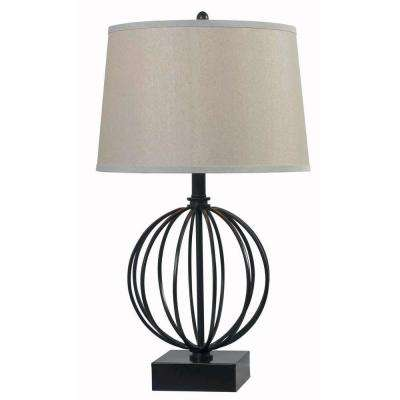 Globus 26 in. Oil-Rubbed Bronze Table Lamp