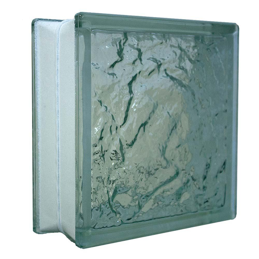 Glass Block Wave Pattern Privacy Security 10 Pack 7.75 x 7.75 x 3.12 Inches New