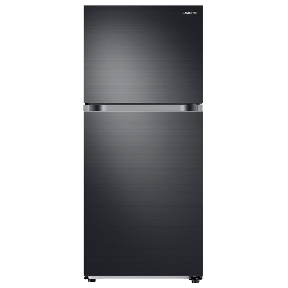 Samsung 17.6 cu. ft. Top Freezer Refrigerator with FlexZone Freezer in Fingerprint Resistant Black Stainless, Energy Star This Samsung Top Freezer Refrigerator truly is one of a kind and unlike any other. Featuring FlexZone, which is a versatile top door that can be a fridge or freezer, maximizing fresh food storage space. This allows you to expand your refrigerator space to chill your favorite beverages, snacks or party food. Unless you simply keep it as a freezer, but this is completely up to you. It also has Twin Cooling Plus, which maintains the humidity level of the refrigerator keeping foods fresher, longer. For example, dry freezer conditions for less freezer burn and better tasting foods. Ice maker available in Model #RT18M6215SG. Color: Fingerprint Resistant Black Stainless.