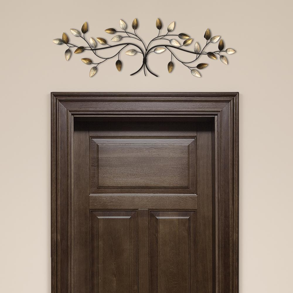 62bb90552b Stratton Home Decor Over the Door Blowing Leaves Wall Decor S01356 - The  Home Depot