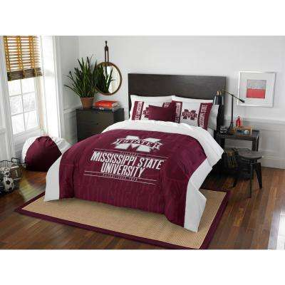 mississippi state 3piece modern take multi fullqueen comforter set