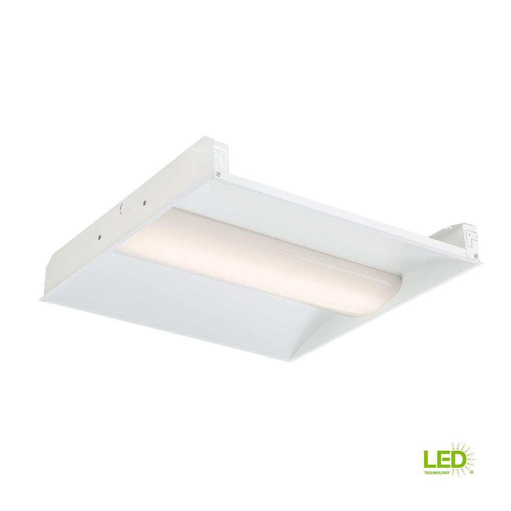 EnviroLite 2 ft. x 2 ft. LED Volumetric White Troffer