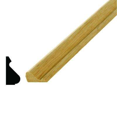 WM 163 11/16 in. x 1-3/8 in. x 96 in. Wood Pine Base Cap Moulding
