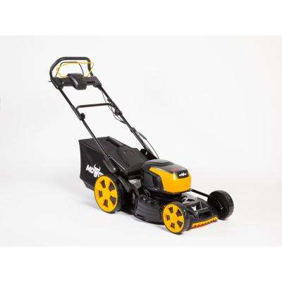19 in. 62-Volt, 2-n-1 RWD Self Propelled Cordless High Wheel Walk Behind Mower with 4 Ah Lith-ion Battery and Charger