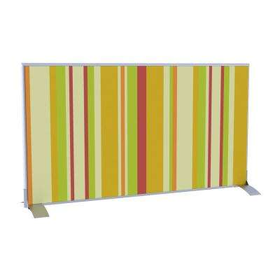 Paperflow easyScreen Horizontal Divider Screen in Yellow Green and Red Vertical Stripe