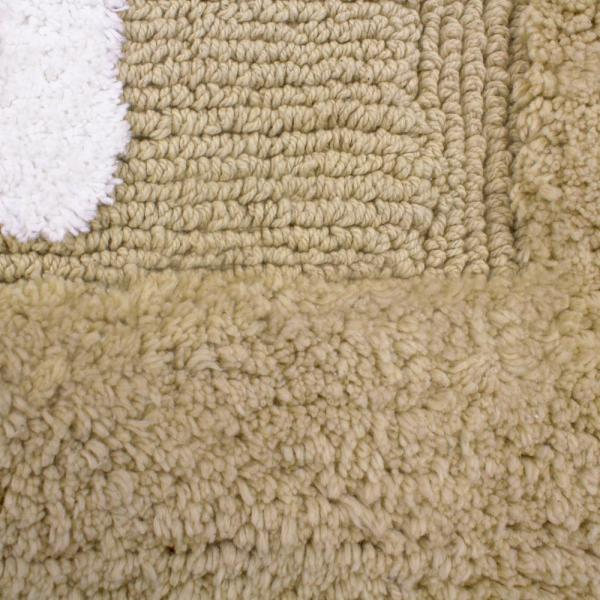 Cotton His And Hers Linen Bath Rug Set