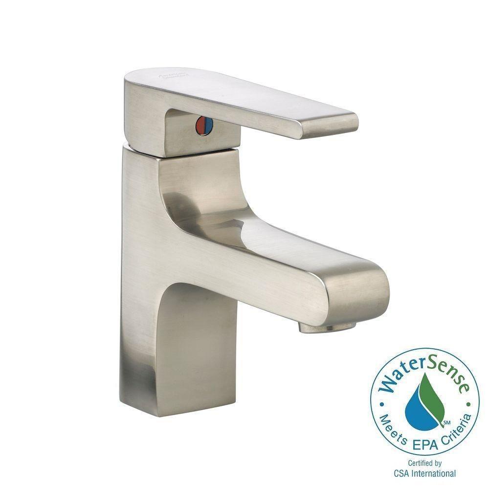 Studio Monoblock Single Hole Single Handle Mid-Arc Bathroom Faucet in Brushed Nickel