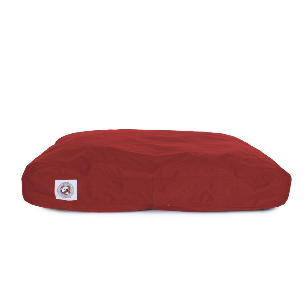 Large Dark Red Brutus Tough Chew Resistant Pet Bed