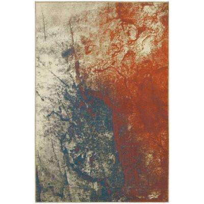Storm Grey/Spice 8 ft. x 11 ft. Area Rug