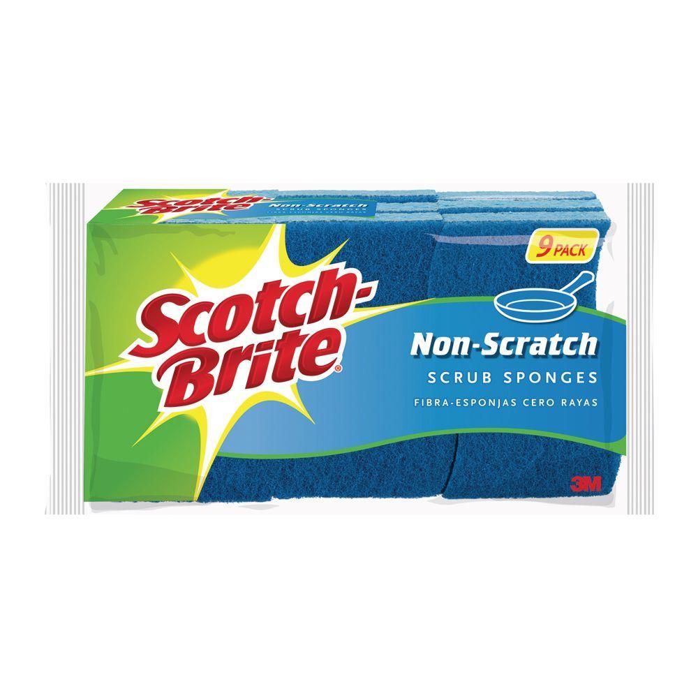 Scotch-Brite Non-Scratch Scrub Sponge (9-Pack)