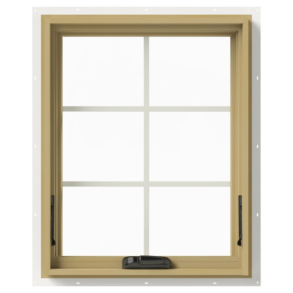 24 in. x 30 in. W-2500 Series White Painted Clad Wood