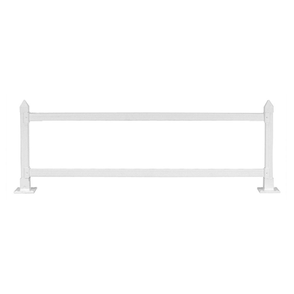 16 in. x 4 ft. White Modular Vinyl Wall Topper Extension