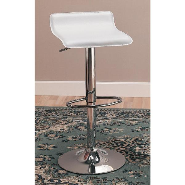 29 Upholstered Backless Bar Stools with Adjustable Height Black and Chrome Set of 2