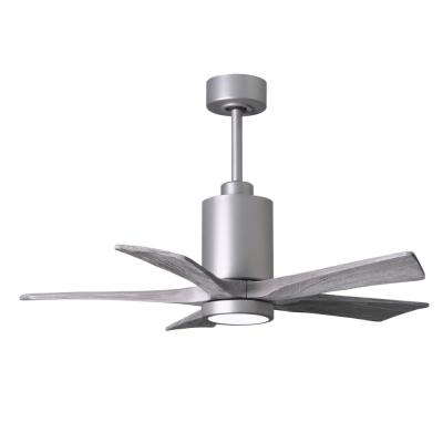 Patricia 42 in. LED Indoor/Outdoor Damp Brushed Nickel Ceiling Fan with Light with Remote Control and Wall Control
