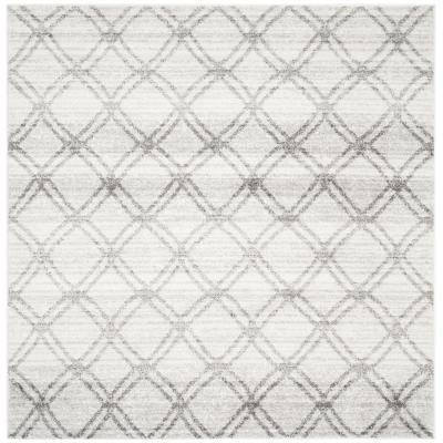 Adirondack Silver/Charcoal 4 ft. x 4 ft. Square Area Rug