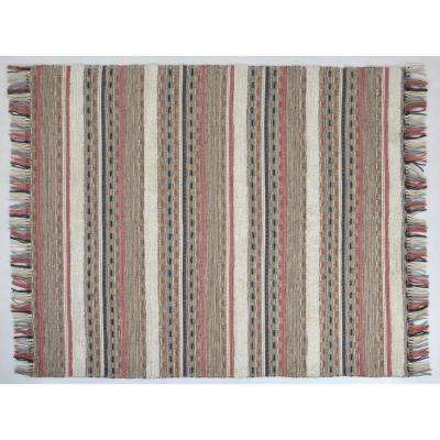 Tecumseh Striped Southwestern Multi 8 ft. x 10 ft.  Area Rug