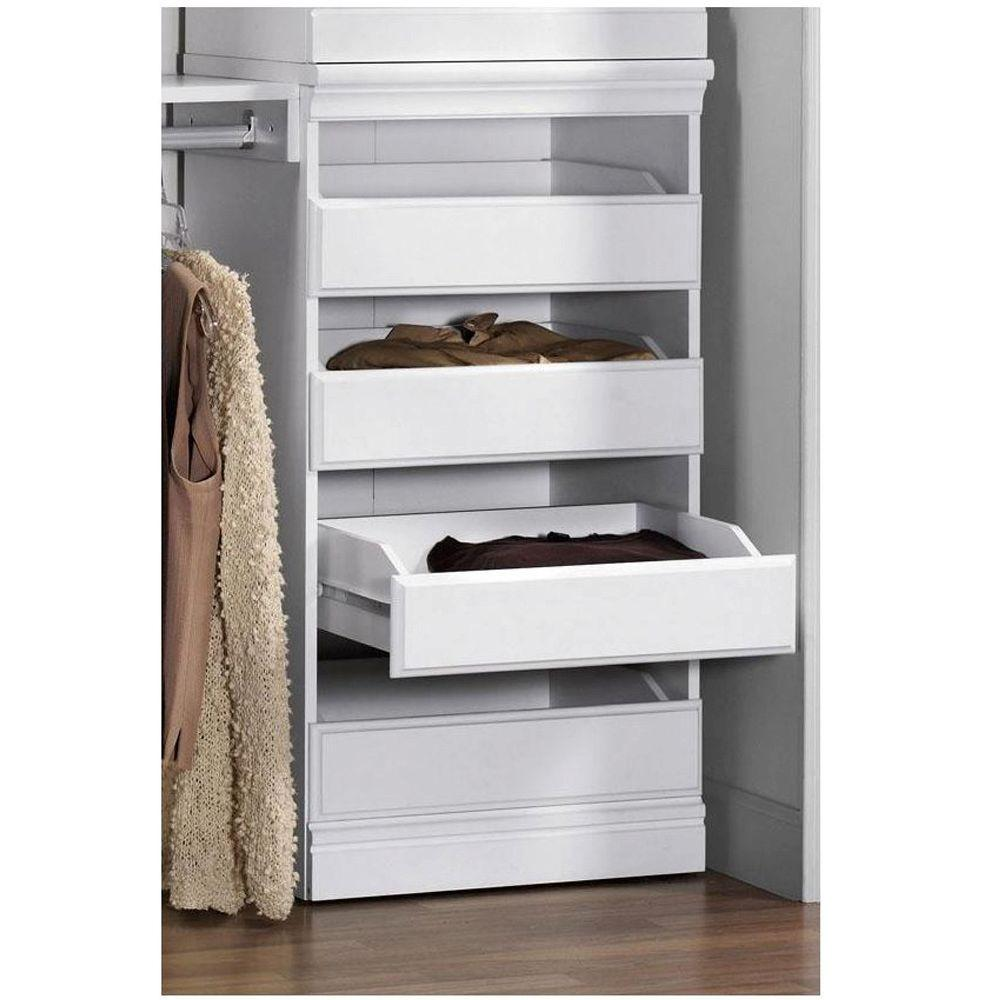 Home Decorators Collection Manhattan 40 in. H Modular Storage Drawers in White