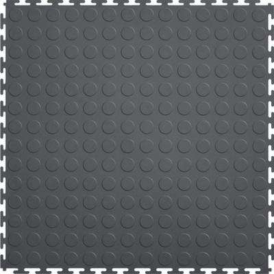 Coin 1.71 ft. Width x 1.71 ft. Length Dark Gray PVC Garage Flooring