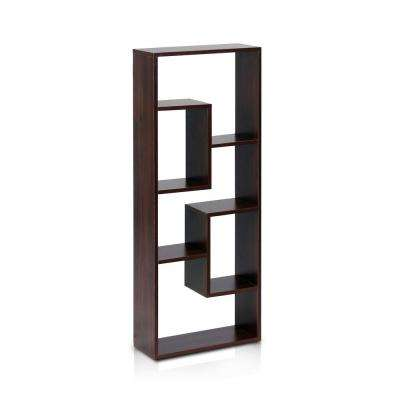 Boyate Walnut Wall Mounted Book Shelf
