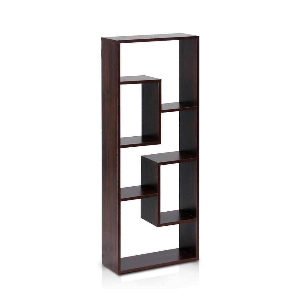 Furinno Boyate Walnut Wall Mounted Book Shelf