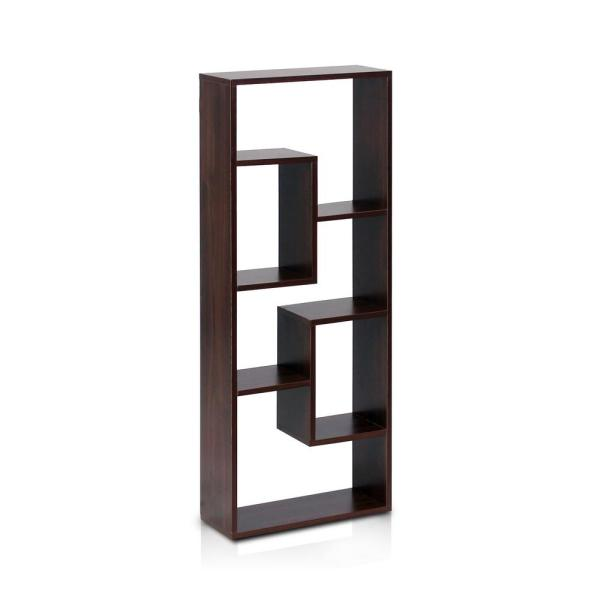 Furinno Boyate Walnut Wall Mounted Book Shelf Fnaj 11033 The Home