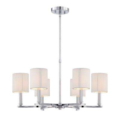 Kennedy Collection 6-Light Chrome Chandelier