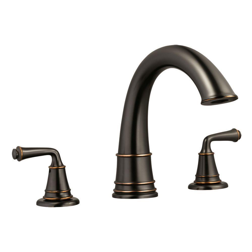 Eden 2-Handle Surface-Mount Roman Tub Faucet in Oil Rubbed Bronze