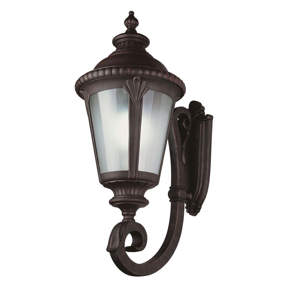 Stewart 1-Light Rust Outdoor CFL Wall Lantern
