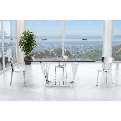 Winter Polished Stainless Steel Dining Chair (Set of 2)