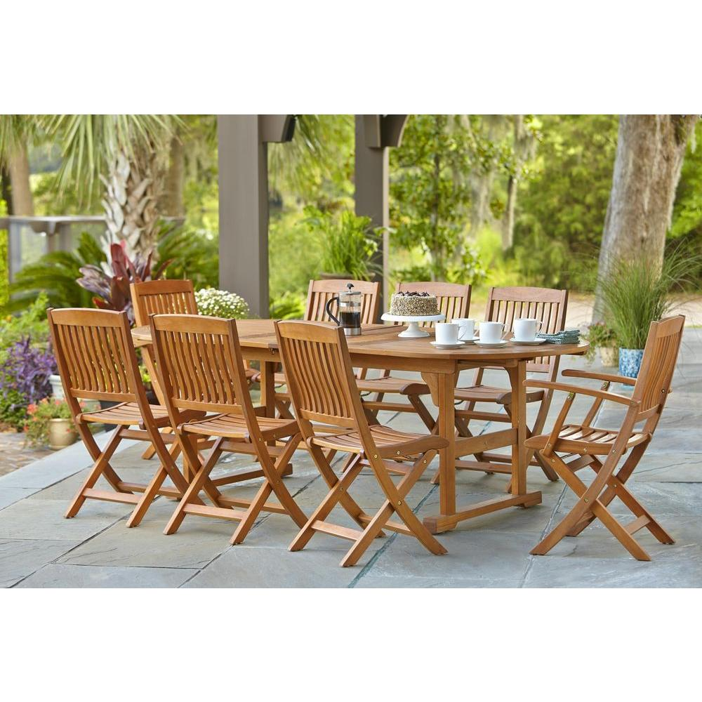Adelaide Eucalyptus 9 Piece Patio Dining Set. Wood   Adelaide   Patio Furniture   Outdoors   The Home Depot