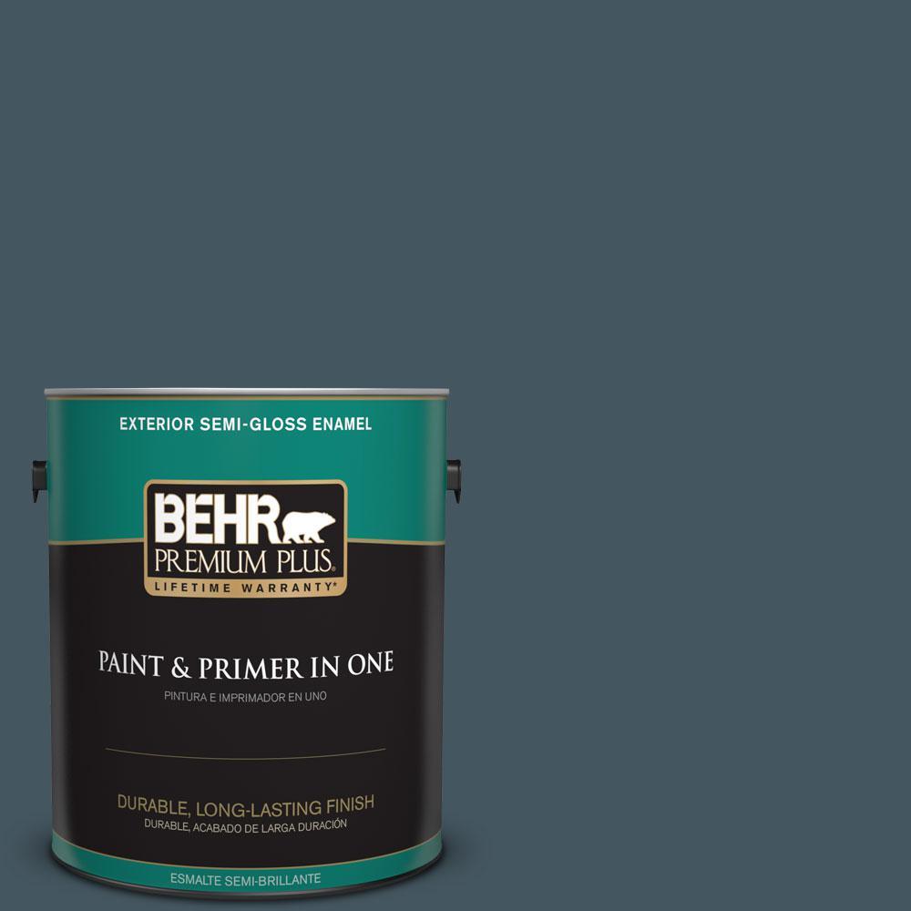 1-gal. #ECC-35-3 Thunder Bay Semi-Gloss Enamel Exterior Paint