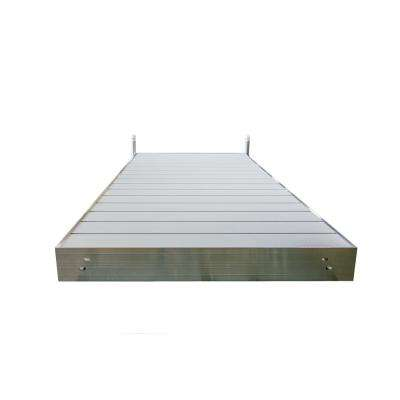 8 ft. L Straight Aluminum Frame with Aluminum Decking Platinum Series Complete Dock Package